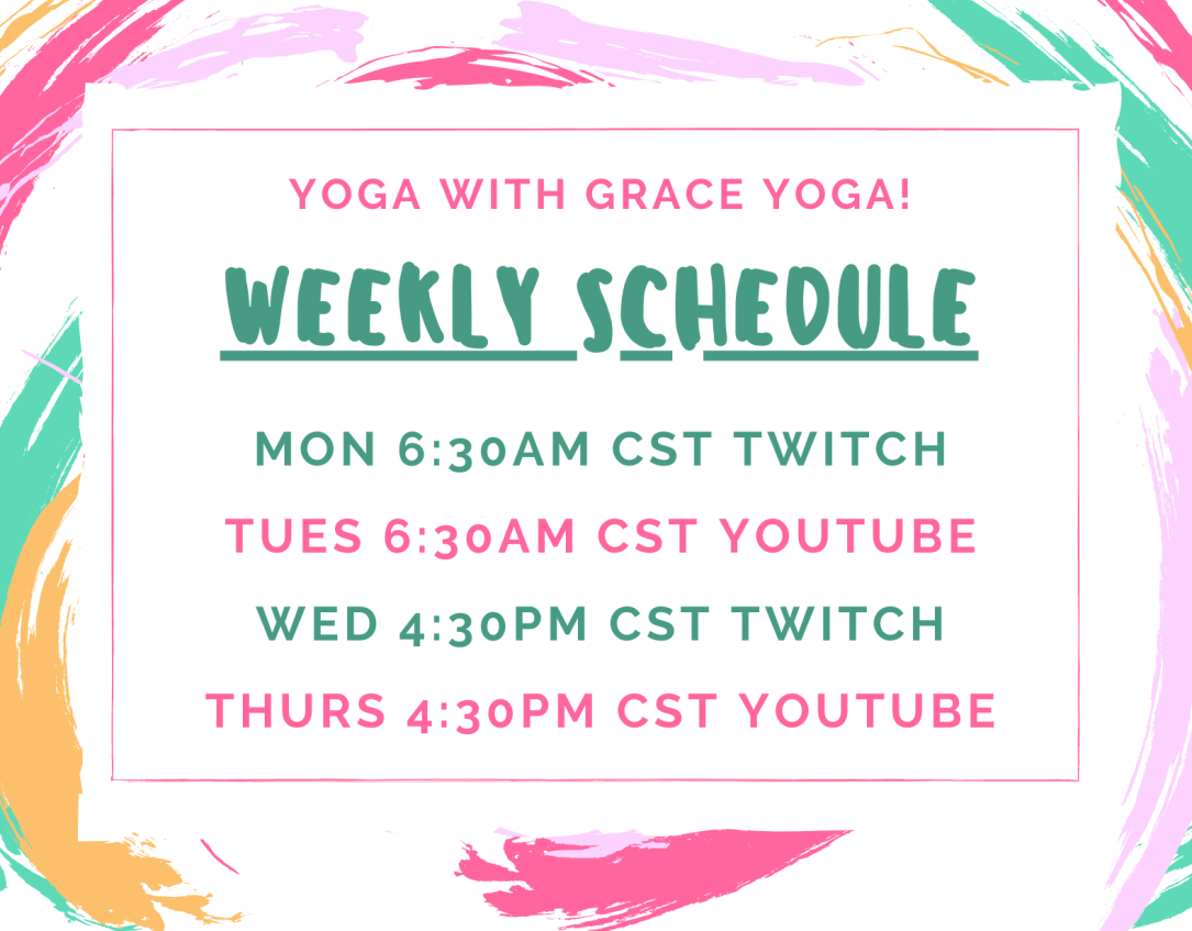weekly schedule for 4/13/2020